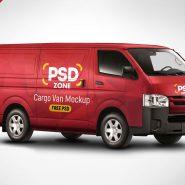 Cargo Van Mockup Free PSD