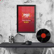 Flyer Poster Frame Mockup PSD