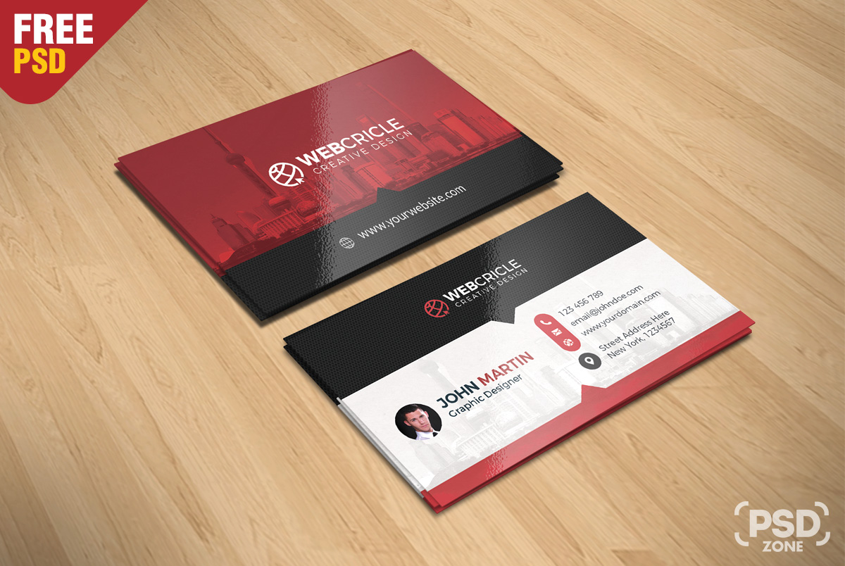 Free Corporate Business Card PSD - PSD Zone