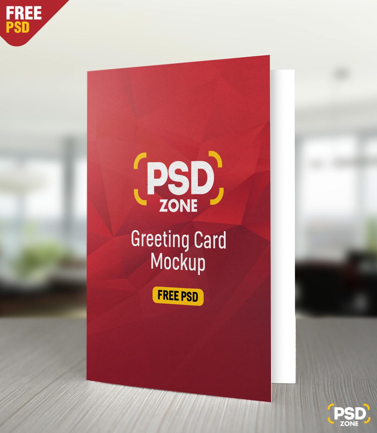 Greeting Card Mockup Free Psd Psd Zone