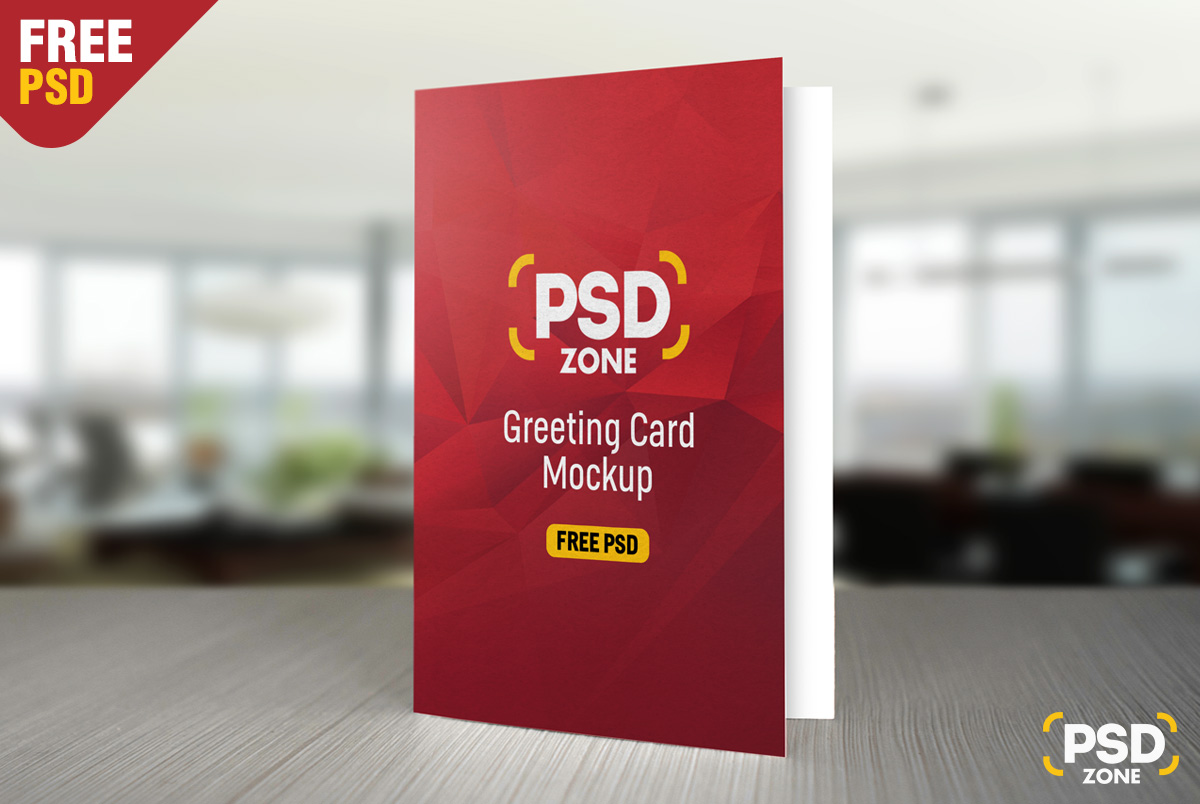 Superb Greeting Card Mockup Free PSD
