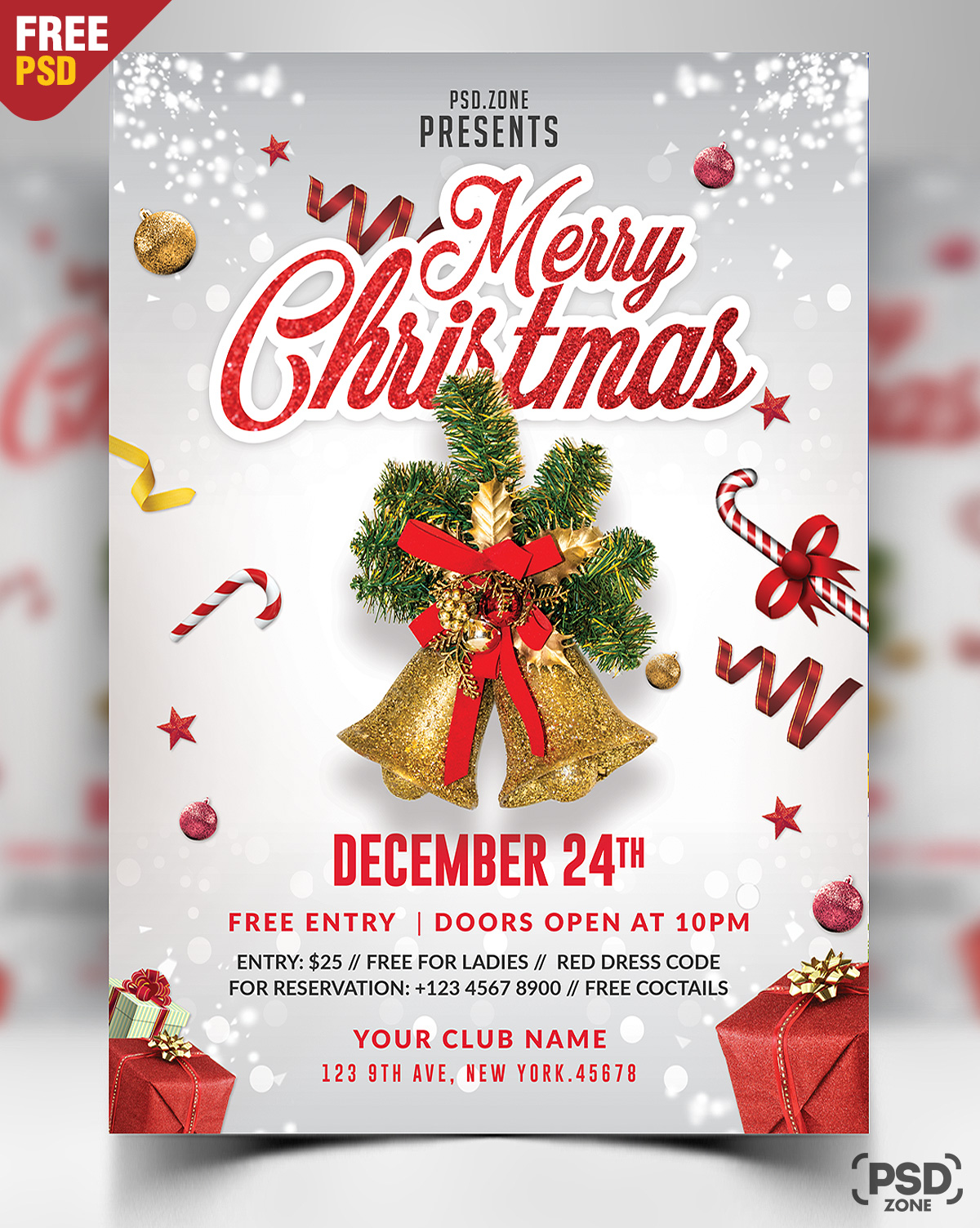 Merry Christmas Flyer Free PSD