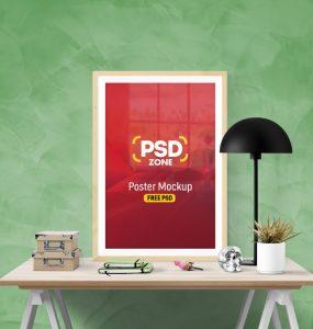 Poster Frame Mockup Free PSD