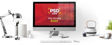 iMac Mockup Free PSD