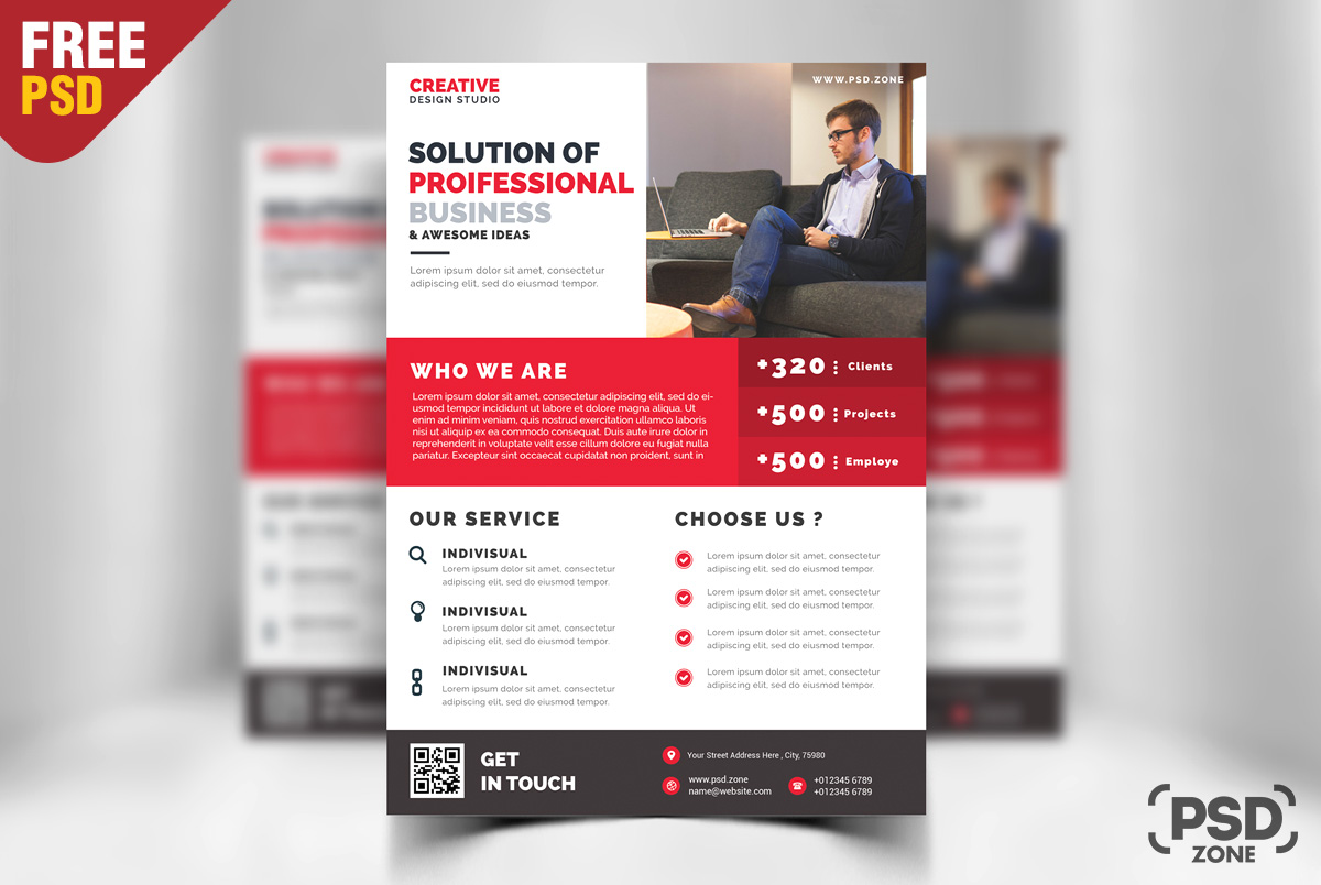 Business promotion flyer psd template psd zone business promotion flyer psd template wajeb Choice Image