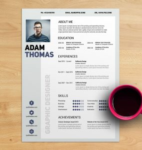 Clean Resume CV Free PSD