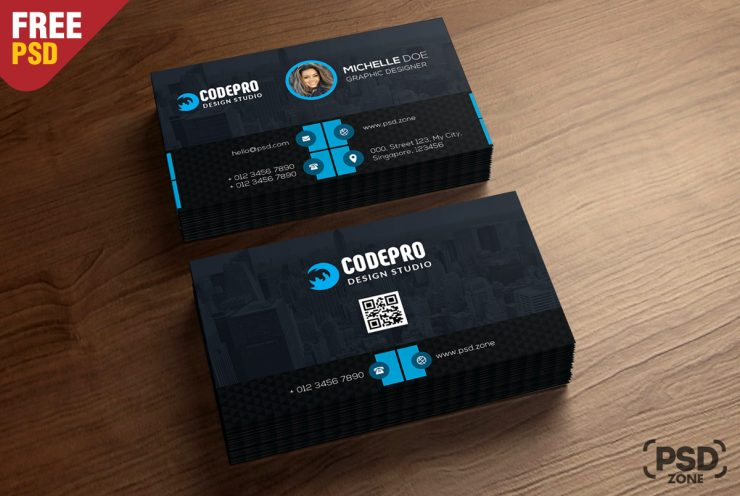 100 free business card psd templates corporate business card free psd reheart Images