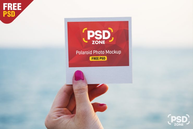 Polaroid Photo Mockup PSD