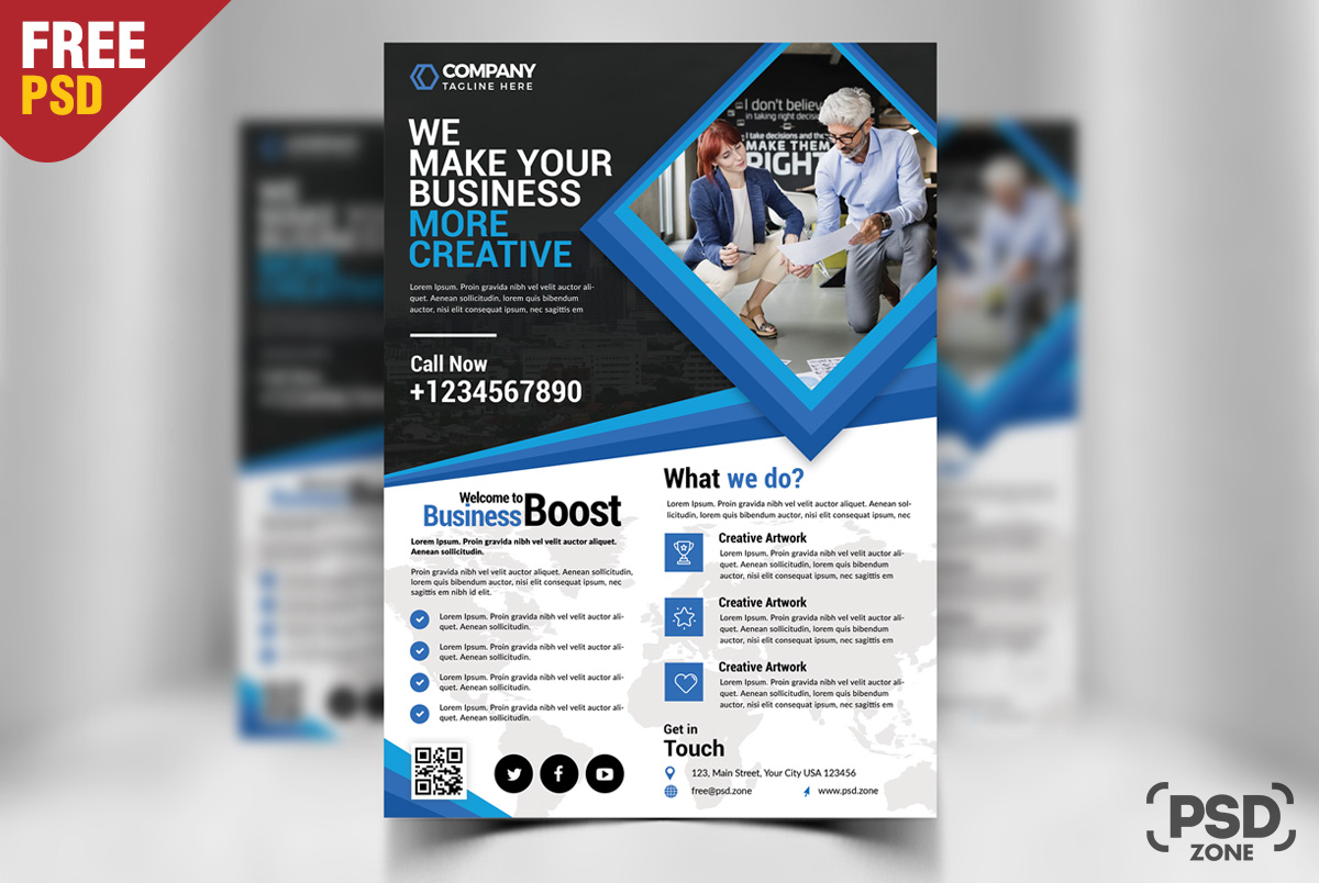corporate business flyer free psd psd zone