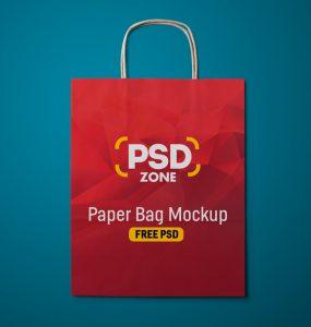 Paper Shopping Bag Mockup Free PSD
