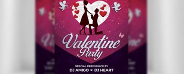 Valentines Day Flyer Free PSD