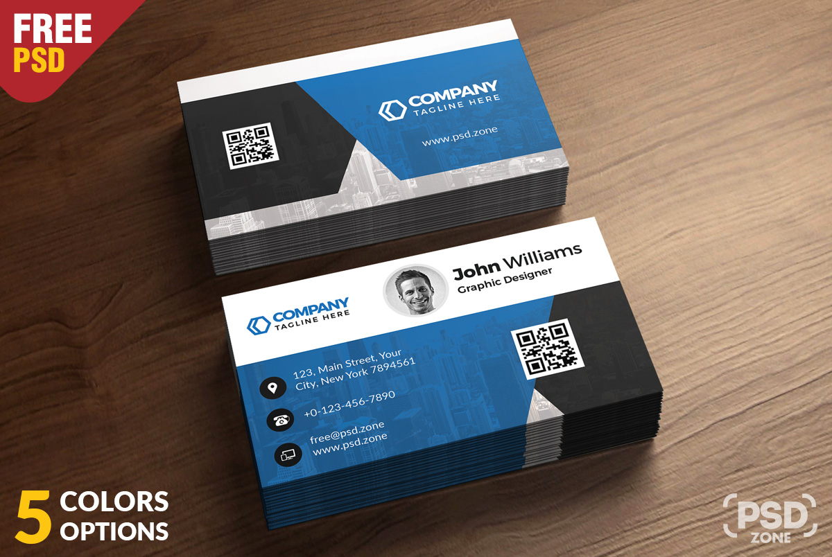 Corporate Business Card Free PSD Bundle - PSD Zone