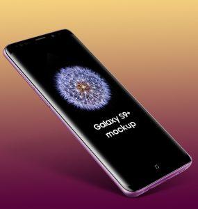 Floating Galaxy S9 Plus Mockup Free PSD