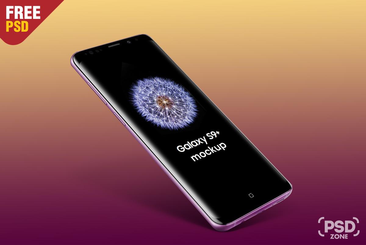 Floating Galaxy S9 Plus Mockup