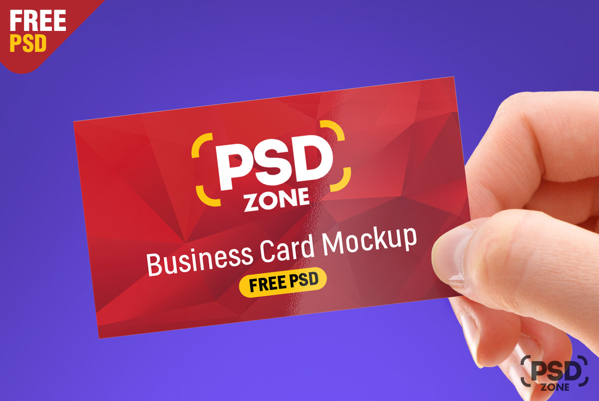 Free Business Card Mockup Psd Psd Zone