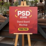Outdoor Restaurant Menu Stand Board Mockup