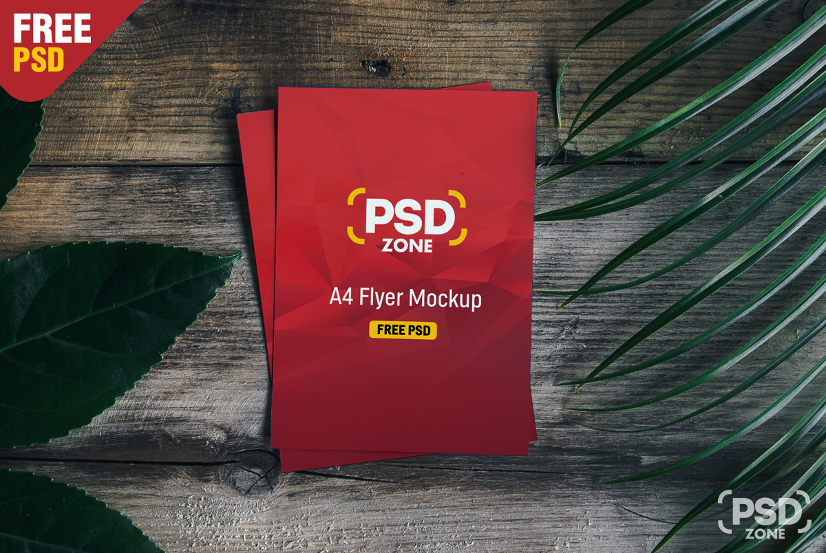 2 sided flyer mockup psd free download