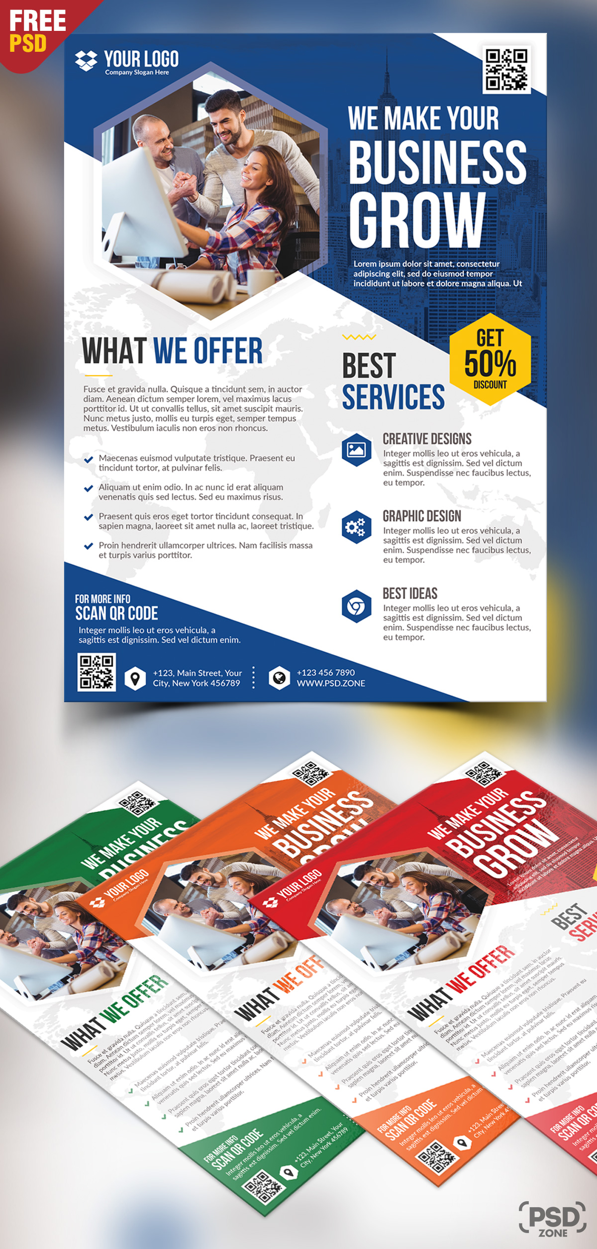 Business Flyer Free PSD Bundle