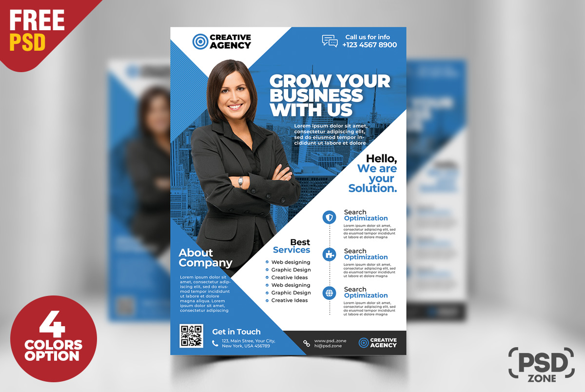 corporate business flyer free psd set psd zone