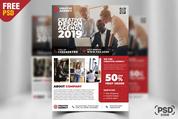 Free Corporate Business Flyer Design PSD