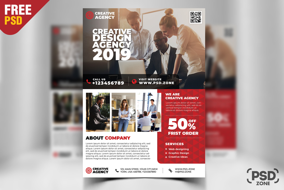 free corporate business flyer design psd psd zone