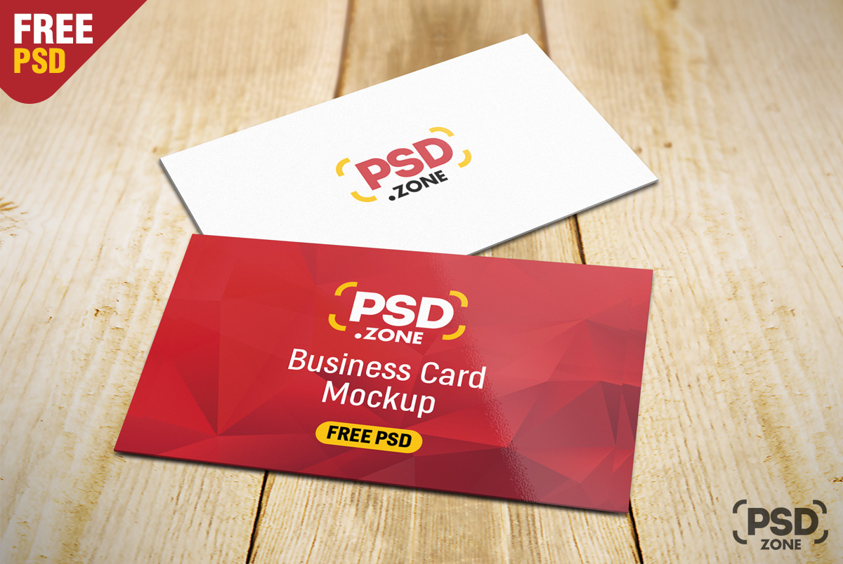 Business card on table mockup psd psd zone business card on table mockup psd reheart Gallery