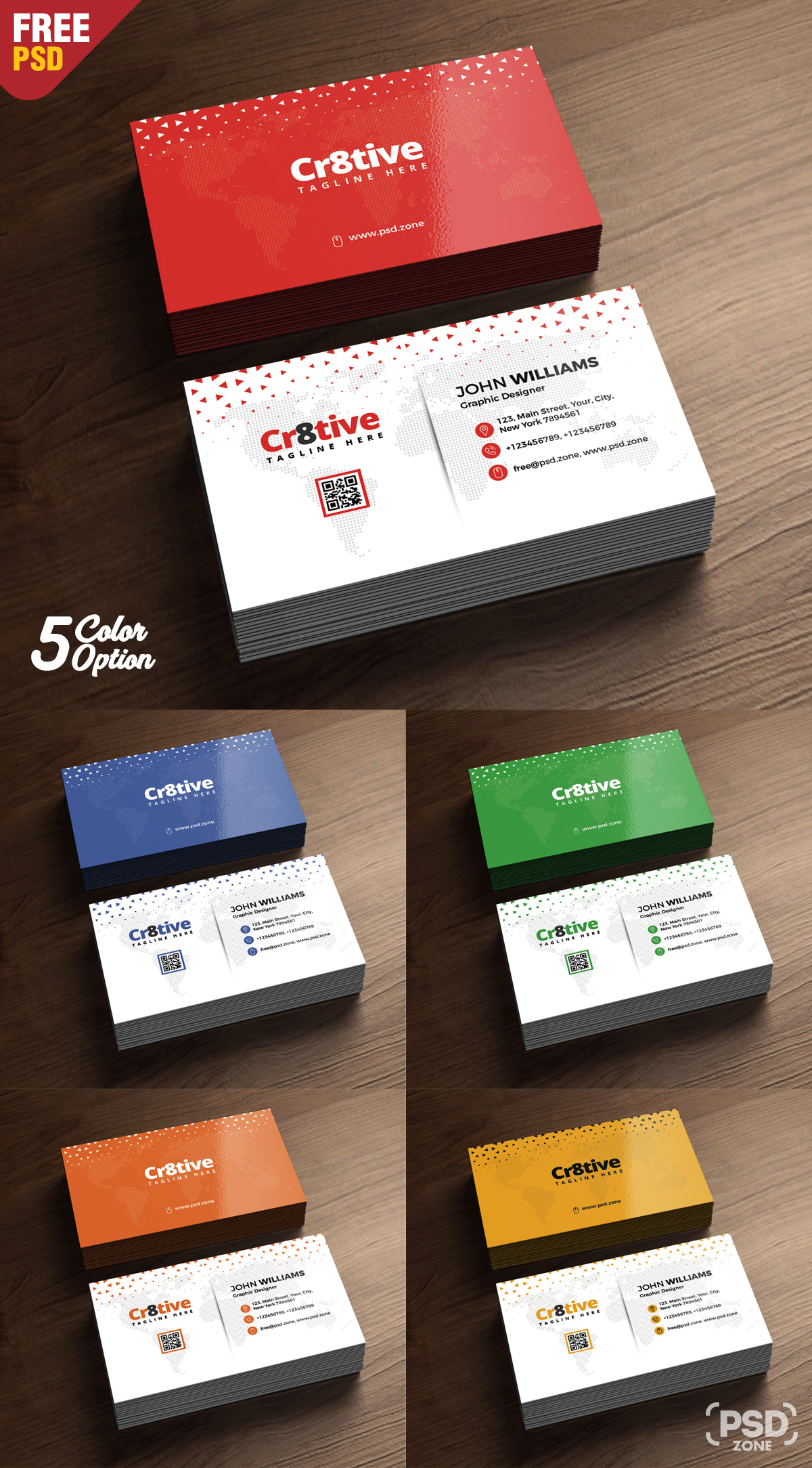 Clean Business Card Design Free PSD - PSD Zone