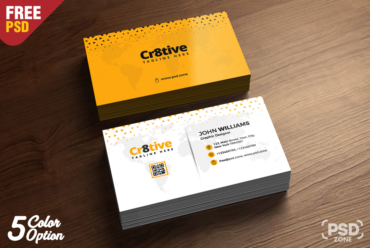 Clean business card design free psd psd zone clean business card design free psd reheart Images