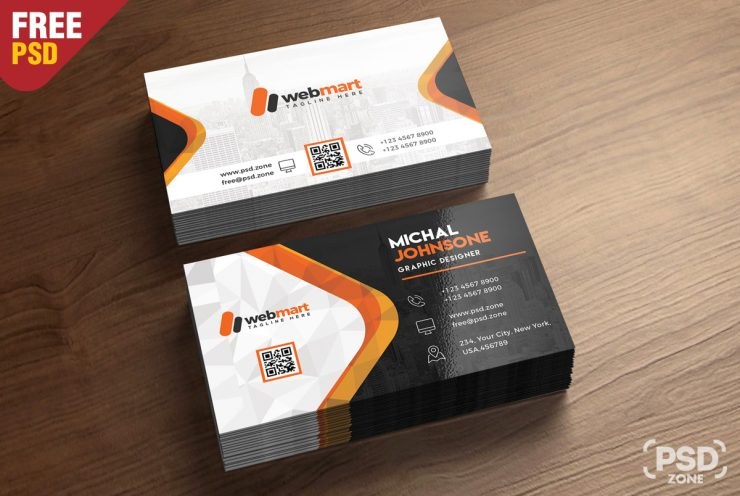 Creative Business Card Free PSD Bundle