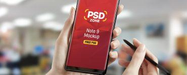 Galaxy Note 9 Mockup Free PSD