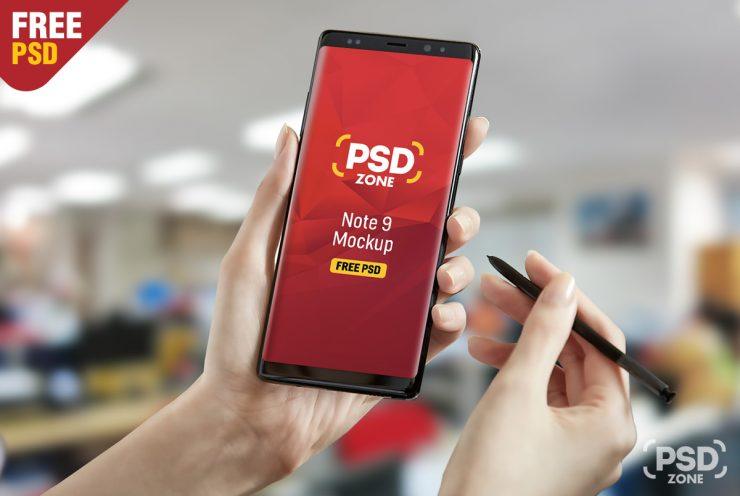 Galaxy Note 9 Mockup Free PSD
