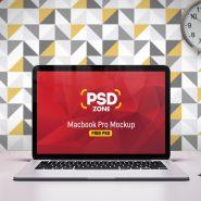 Macbook Pro on Desk Mockup Free PSD