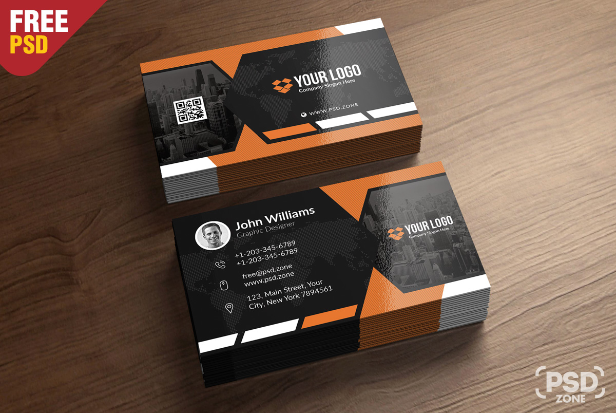 Premium business card templates free psd psd zone for Business card images free
