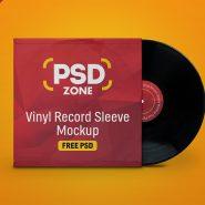 Vinyl Record Sleeve Mockup PSD