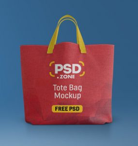 Canvas Tote Bag Mockup Free PSD