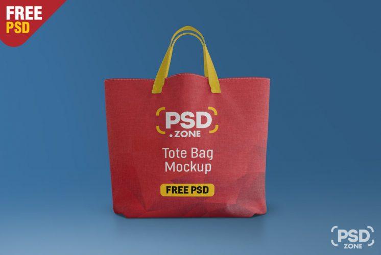 Canvas Tote Bag Mockup Free PSD
