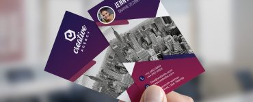 Creative Vertical Business Card Free PSD