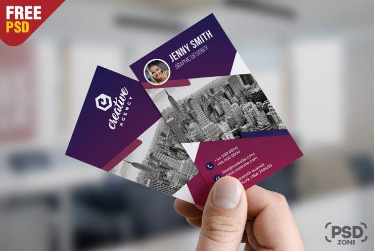 Creative Vertical Business Card Free PSD