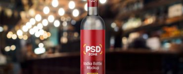 Vodka Bottle Mockup Free PSD