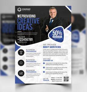 Corporate Business Flyer Free PSD Bundle
