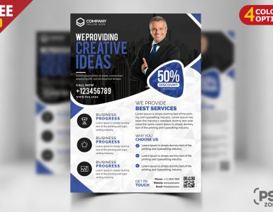 Corporate Business Flyer Free PSD Bundle