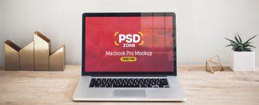 Macbook Pro on Desk Mockup