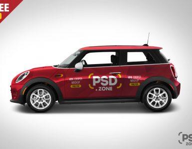 Mini Cooper Mockup Free PSD