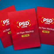 Multiple Flyer Mockup PSD