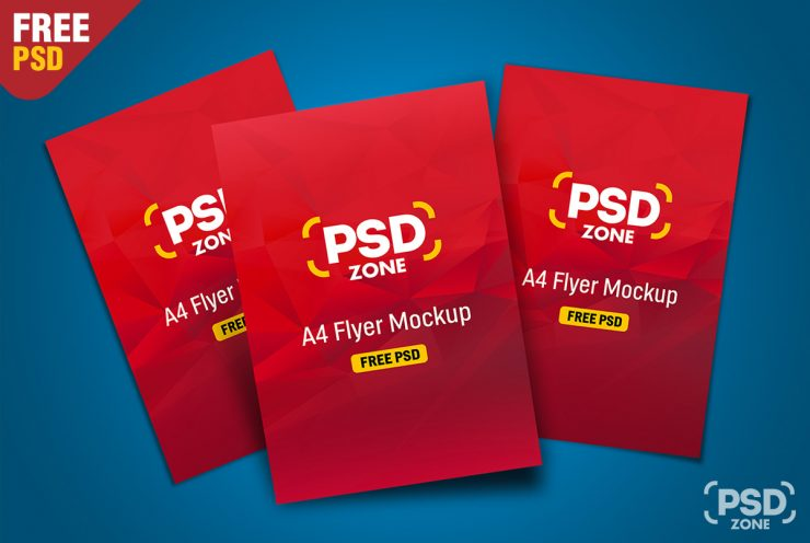 Multiple Flyer Mockup PSD