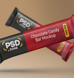 Chocolate Candy Bar Mockup PSD