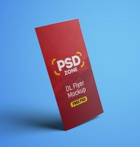 DL Flyer Mockup PSD