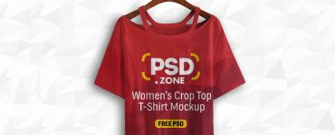 Women's Crop Top Mockup PSD