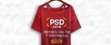 Women's Crop Top Mockup PSD