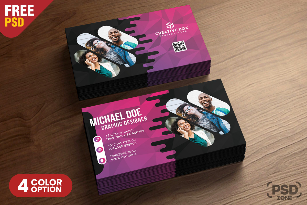 Creative business card psd templates psd zone creative business card psd templates wajeb Image collections